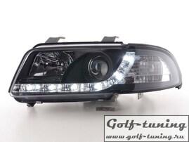 Audi A4 B5 99-01 Фары Devil eyes, Dayline черные