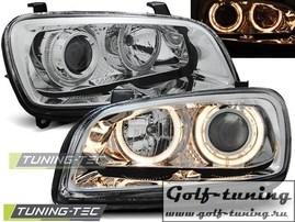 Toyota RAV4 94-00 Фары Angel eyes хром