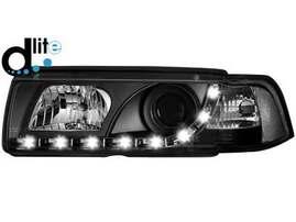 BMW E36 Седан/Универсал/Компакт Фары Devil eyes, Dayline черные