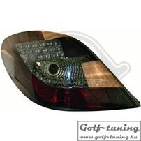 Peugeot 207 06-12 Фонари светодиодные, черные