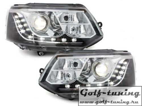 VW T5 GP 09-15 Фары Devil eyes, Dayline черные