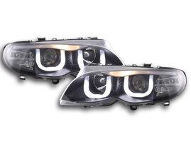 BMW 3er E46 02-05 Фары Angel Eyes черные