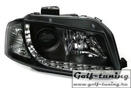 Audi A3 8P 03-08 Фары Devil eyes, Dayline черные