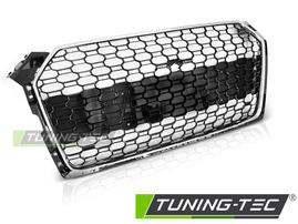 AUDI A5 18- Решетка радиатора в стиле RS5 глянцевая с хромом