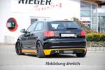 Audi A3 8P 08-12 3Дв Накладка на задний бампер Carbon Look