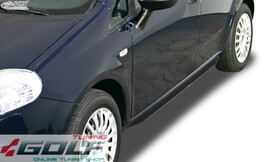 Fiat Grande Punto Накладки на пороги Slim