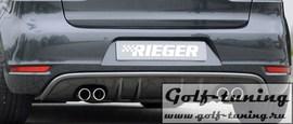 VW Golf 6 Cabrio/GTD Диффузор для заднего бампера carbon look