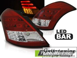 Suzuki Swift 10- Фонари lightbar design красно-белые