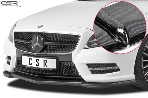 Mercedes Benz CLS C218 / X218 AMG-Line 11-14 Накладка на передний бампер Carbon look