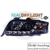 Audi A6 4B 01-04 Фары Devil eyes, Dayline черные