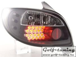 Peugeot 206 98-05 Фонари светодиодные, черные