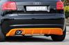 Audi A3 8P 08-12 5Дв Sportback Диффузор для заднего бампера черный