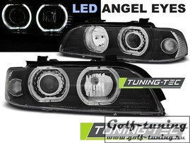 BMW E39 95-03 Фары Angel Eyes LED черные