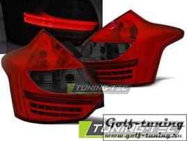 Ford Focus 11-14 Hatchback Фонари светодиодные, красно-тонированные