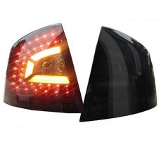 Skoda Octavia 1Z 04-11 Седан Фонари светодиодные, черно-тонированные