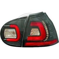 VW Golf 5 Фонари светодиодные, черные Lightbar design