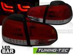 VW Golf 6 Фонари LED BAR красно-тонированные