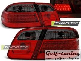 Mercedes W210 Седан 95-02 Фонари светодиодные, красно-тонированные