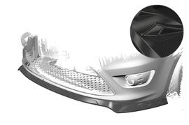 Ford Focus MK2 ST 07-10 Накладка на передний бампер Carbon look