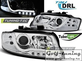 Audi A4 00-04 Фары TUBE LIGHTS хром
