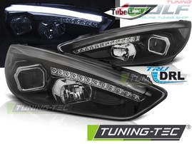 Ford Focus 3 15- Фары lightbar design черные