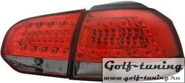 VW Golf 6 Фонари светодиодные, красно-тонированные