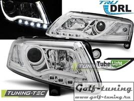 Audi A6 4F 04-08 Фары Led Tube Lights хром