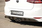 VW Golf 7 R-Line 12-17 Диффузор для заднего бампера carbon look