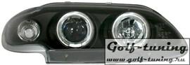 Renault Megane 96-00 Фары с ангельскими глазками и линзами черные