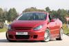 Peugeot 307 Накладки на пороги Carbon Look
