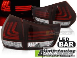 Lexus RX 330/350 03-08 фонари lightbar design красно-белые