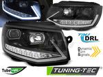 VW T6 15-20 Фары с динамическими/бегающими поворотниками черные