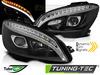 MERCEDES W204 07-10 Фары tube light design черные