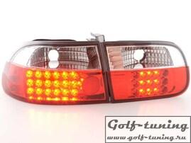 Honda Civic 92-95 3/5D Фонари светодиодные, хром