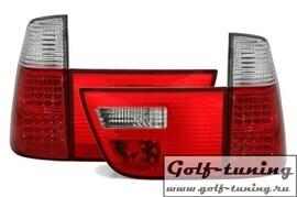 BMW X5 99-03 Фонари светодиодные, красно-белые