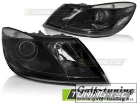 Skoda Octavia 09-12 Фары с линзами черные