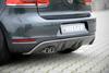 VW Golf 6 GTD/Cabrio Диффузор для заднего бампера carbon look
