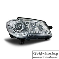 VW Touran GP 06-10 Фары Devil eyes, Dayline хром