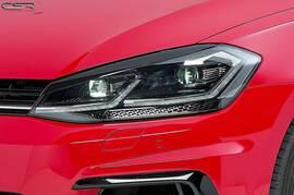 VW Golf 7 17-20 Реснички на фары глянцевые Bad Eyes