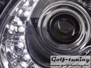 Mercedes W211 02-06 Фары Devil eyes, Dayline хром