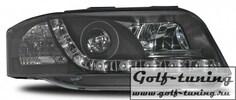 Audi A6 C5 01-04 Фара Devil eyes, Dayline черные ПРАВАЯ