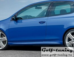VW Golf 6 Накладки на пороги R20 Look