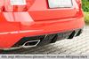 Skoda Octavia A7 RS 12-19 Накладка на задний бампер/диффузор carbon look