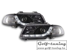 Audi A4 B5 95-99 Фары Devil eyes, Dayline черные