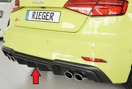 Audi S3 8V 3/5Дв Хэтчбек 16- Накладка на задний бампер/диффузор