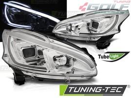 Peugeot 208 12-15 Фары tube light хром