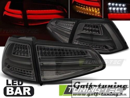 VW Golf 7 12-17 Фонари светодиодные, тонированные Led bar design