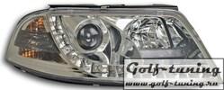 VW Passat B5+ Фары Devil eyes, Dayline хром
