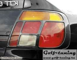 Audi A4 95-99 Накладки на фонари carbon look