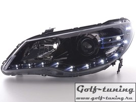 Honda Civic 07- Фары Devil eyes, Dayline черные